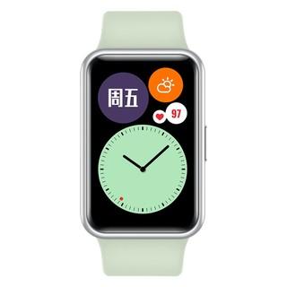 HUAWEI 华为 WATCH FIT 华为手表 运动智能手表方形 时尚轻薄/华为快充/全屏触摸/专业运动/健康管理 薄荷绿