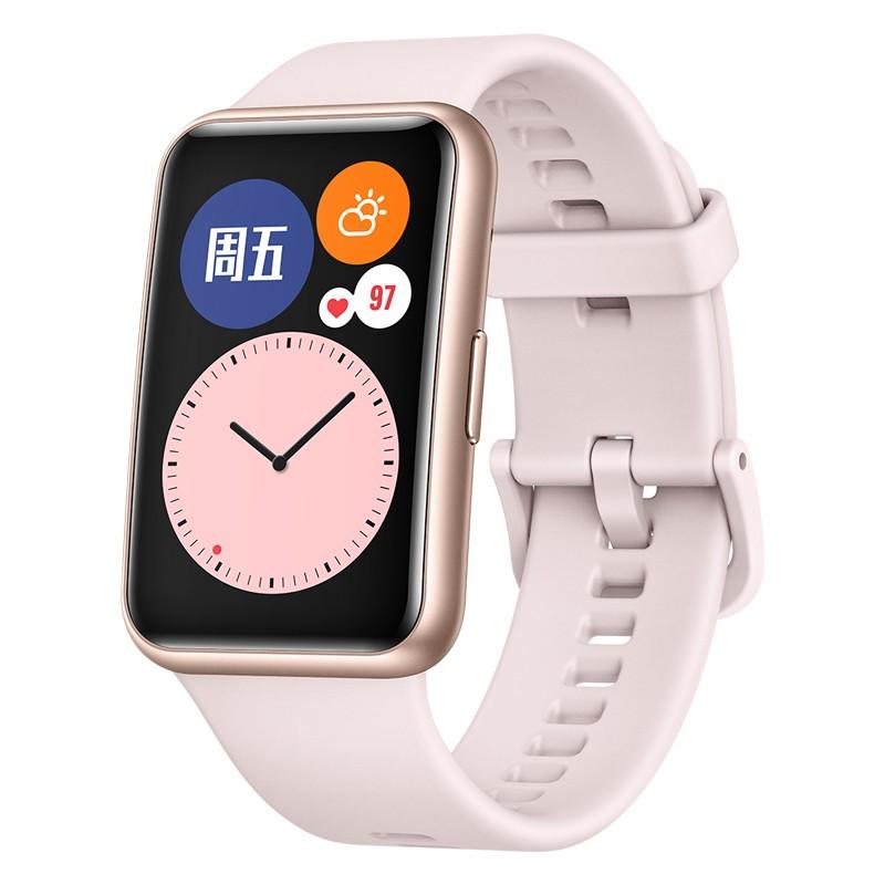 HUAWEI 华为 WATCH FIT 活力款 智能手表 46mm 樱语粉聚合纤维表盘 樱语粉硅胶表带(血氧、GPS)