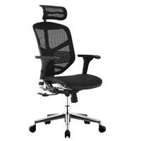 Ergonor 保友办公家具 金卓系列 人体工学电脑椅 黑色 铝合金脚