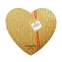 FERRERO ROCHER 費列羅 榛果威化巧克力零食27粒 心型裝 休閑零食心形禮盒愛心禮物