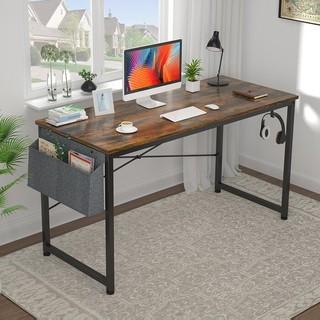 电脑书桌美式简约款正品必购经久磨砂黑防水防潮环保无甲醛超值