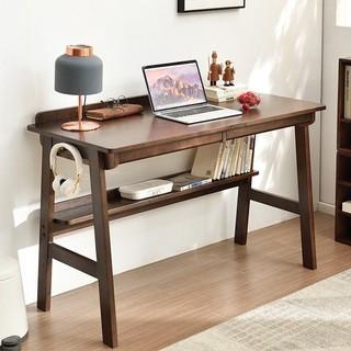 JIAYI 家逸 家逸实木书桌学生学习桌简约家用现代电脑桌办公桌书房写字台