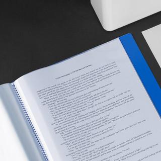 广博A4资料册20/30/40/60/80/100页多层分页活页文件夹插页袋透明塑料档案夹 A3140 (40页*5件装)