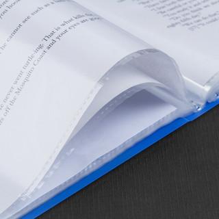 广博A4资料册20/30/40/60/80/100页多层分页活页文件夹插页袋透明塑料档案夹 A3130 (30页*5件装)