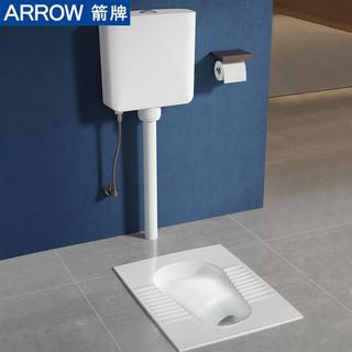 箭牌(ARROW)蹲便器带水箱套装陶瓷大便器防臭蹲厕整套蹲坑便池带存水弯蹲便器水箱组合ALD507G