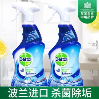 滴露 浴室清洁杀菌喷雾500ml*2瓶 瓷砖玻璃花洒水龙头消毒液清洁剂 去除水垢 柠檬清新