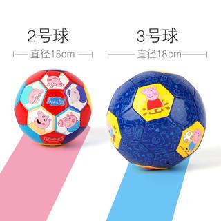 小猪佩奇 儿童足球 男女孩幼儿园运动健身玩具拍拍球小皮球 配打气筒 2号-佩奇一家(TPU材质)