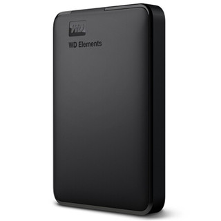 西部数据(WD)移动硬盘 Elements元素 1t/2t/3t/4t/5t 2.5英寸 1TB(WDBUZG0010BBK)