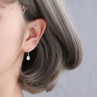 唯一(Winy)银耳钉925银耳环猫眼石耳坠时尚百搭耳钩首饰品简约往日风情