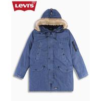 LEVI Levi's李维斯 男士宽松休闲毛绒连帽牛仔羽绒服27673-0010Levis