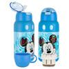 迪士尼(Disney)双盖儿童保温杯吸管杯精美礼盒 宝宝水杯316不锈钢男女学生防漏防摔保温壶500ML 蓝色米奇