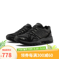 THE NORTH FACE 北面 TheNorthFace北面徒步鞋男户外防水抓地上新4PEU C4V/黑色/灰色 40.5
