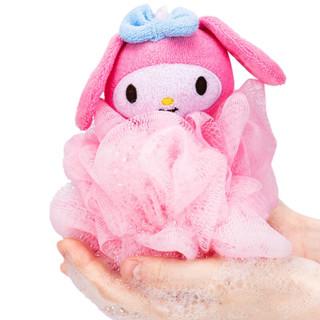 名创优品(MINISO)Sanrio三丽鸥可爱沐浴球家用搓澡巾搓背起泡器洗澡浴室用具(混)