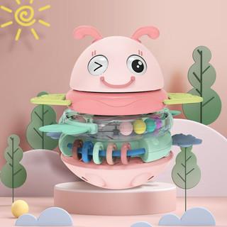 奥智嘉 婴儿玩具不倒翁宝宝早教新生儿摇铃叠叠乐套圈儿童玩具男女孩礼物 叠叠乐不倒翁 红