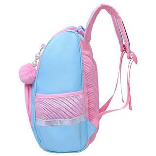 咔米嗒 KAMIDA 小学生书包女儿童书包2-6年级减负双肩包花花姑娘MS8657-04蓝色