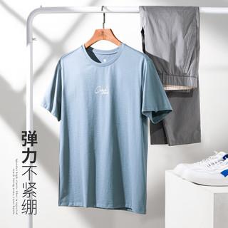 CAMEL 骆驼 XBB482149 男士T恤 铁灰蓝 L