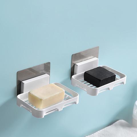 双庆家居 双庆 肥皂盒免打孔香皂盒沥水肥皂架浴室香皂架壁挂式皂盒卫生间置物架