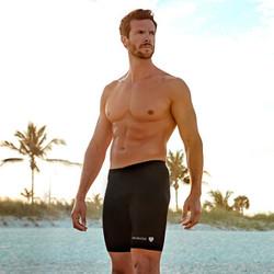 BALNEAIRE 范德安 50162 男五分平角游泳裤 黑色 XXXL