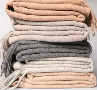 MEKOO 迷可 内蒙古迷鹿缘 羊毛披肩女70*200加宽长款加厚羊毛围巾秋冬