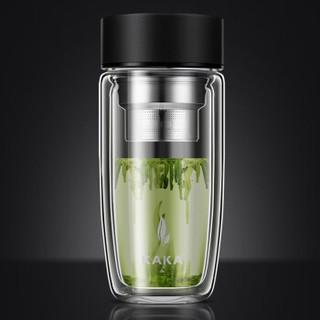 kaka 咔咔  双层加厚耐热玻璃杯 350ml