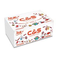 C&S 洁柔 抽纸 3层100抽24包(195*123mm)