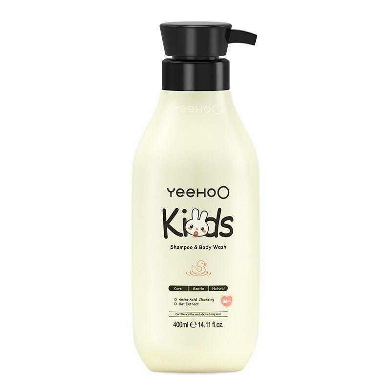 YEEHOO 英氏 儿童洗发沐浴二合一 水蜜桃味 400ml