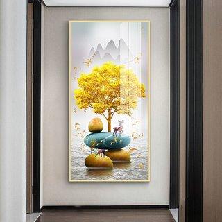 嘉恒艺 玄关装饰画 华贵金 L12款 40*80cm
