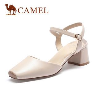 CAMEL 骆驼 A11549629 女士坡跟凉鞋