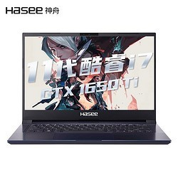 Hasee 神舟战神 S7 14英寸笔记本电脑(i7-1165G7、16GB、512GB SSD、GTX1650TI)