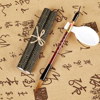 宝克(BAOKE)1S004 狼毫毛笔书法练字笔学生绘画毛笔 大楷 卡装(1支毛笔+1块水写布+水碟)