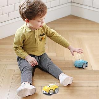 DEERC 遥控汽车智能跟随感应嘟嘟车电动玩具车儿童赛车男孩女孩礼物六一儿童节礼物 魔术手控车-魅力黄