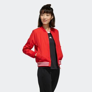 adidas 阿迪达斯 WV 3S BOMBER 女子运动夹克 FI9270 红色 XL