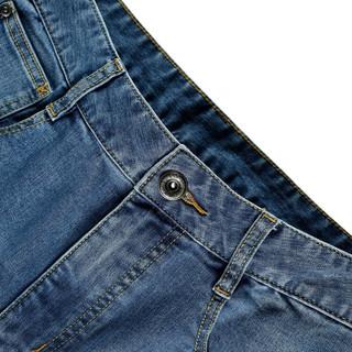 真维斯牛仔裤男春季男士弹力韩版直筒小脚时尚简约牛仔长裤子 2532蓝色 31A