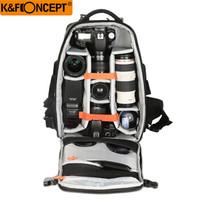 K&F CONCEPT 专业摄影包双肩 微单相机包大容量多功能户外单反包 黑色