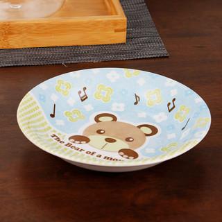 MinoYaki 美浓烧 TB-9 餐盘 6.5英寸 1个装 卡通音乐熊