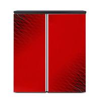 德姆勒(DEMULLER)188升卧式冰箱 家用办公室橱柜式小型双门冰箱 对开门嵌入式电冰箱 财源红