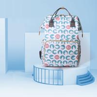 德國UmaUbaby媽咪包大容量外出背奶包雙肩防水母嬰包可手提時尚媽媽包 北極熊(琉璃藍)