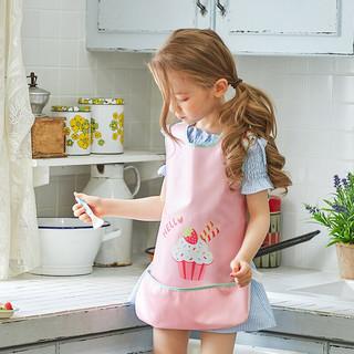 柠檬宝宝lemonkid儿童防水反穿衣环保罩衣围兜男童女童画画衣宝宝吃饭衣LE050318 粉色蛋糕 S码(建议0-2岁)