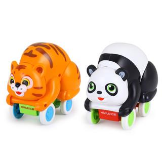 汇乐609卡通玩具车翻滚萌宠滑行车婴儿学爬行 2岁宝宝创意玩具车 609b 609