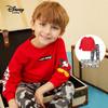 迪士尼童装2020春季新款儿童帅气两件套宝宝男童卫衣长裤运动套装 大红 90cm
