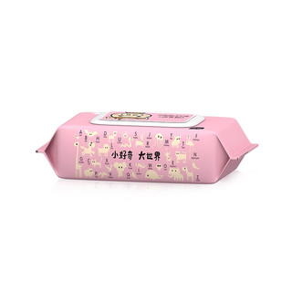 植护湿巾带盖家庭实惠装 婴幼儿护理手口可用湿纸巾 小猪湿巾80抽*5包