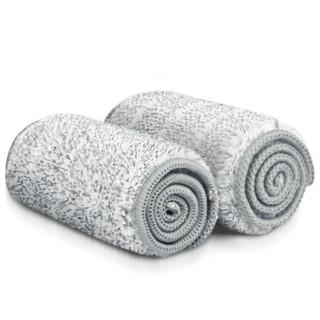 百家好世喷雾平板拖把配布擦木地板瓷砖墩布替换配件平拖把替换布 拖布【灰色1块】