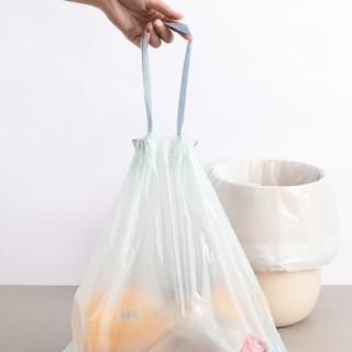 MINISO名创优品抽绳式垃圾袋厨房家用手提式加厚大号3卷实惠装 加厚抽绳式1卷共30只