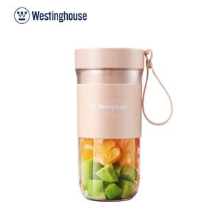 美国西屋榨汁机小型便携式果汁杯家用电动榨汁机随身带充电果汁机WSX-701 粉红色