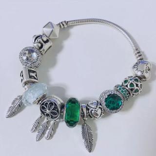 PANDORA 潘多拉 791619 幽绿穆拉诺琉璃925银串饰