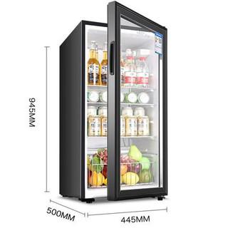 SAST/先科 BC-135T冰吧家用单门冷藏小冰箱玻璃门留样保鲜茶叶柜
