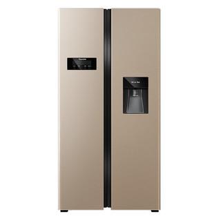 英国达米尼524L家用对开门双开门电冰箱风冷无霜时尚水吧智能冰箱