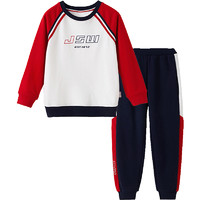 JEANSWEST 真维斯 Q032-JT-03-521TB004 男童卫衣套装 白色 160cm