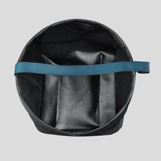 迪卡侬 户外露营 8升折叠水桶/盛水盆大容量折叠桶黑灰色ODC