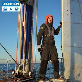 迪卡侬背带裤男户外运动防水春夏防风航海保暖防盐水裤女帆船ODT2
